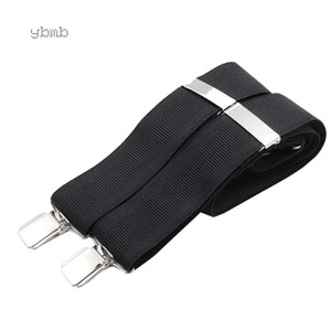 Wholesale ybmb Fashion Shirt Suspenders 4Clips X Back Braces 3.5CM Width Adjustable Fashion Garte Alloy fittings leather Adult Men Giflt