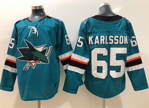 Wholesale New San Jose Sharks Jerseys Erik Karlsson Jersey Pavelski Thornton Burns New Hockey Jerseys Teal Green Color Size S XXXL