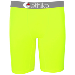 Ethika Staple underwear boxers briefs solid yellow cotton spandex bboy breaking excise underwear skateboard street fashion