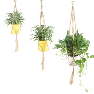 Wholesale Jute Rope Macrame Hanging Planter Holder Basket Wall Art Vintage inspired Plant Hanger for Plant Pot Indoor Outdoor Home Decoration S M L XL