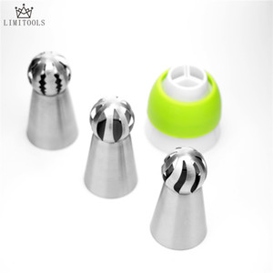 Wholesale ball nozzle for sale - Group buy 3pc set Russian Piping Nozzle Sphere Ball Stainless Steel Icing Confectionary Pastry Tips Cupcake Decorator Kitchen Bakeware