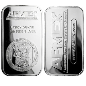 1 oz Silver Plating Art Bar Series + Fine Apmex Eagle Reverse Silver Bullion Coin Free shipping 5pcs lot 1oz No Magnetic Bar Business Gift