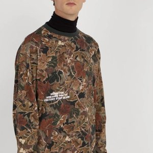 Heron Preston long sleeve HP Leaf Camouflage Round Neck Sweater Vintage Casual Fashion Men And Women Couple Comfortable Sweater HFSSWY193