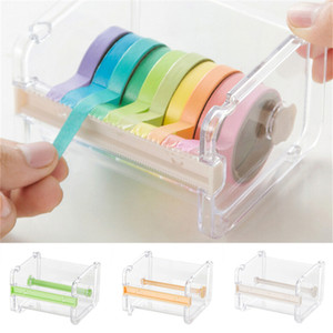 Wholesale 1 PC Japanese Stationery Masking Tape Cutter Washi Tape Storage Organizer Cutter Office Dispenser Office Supplies