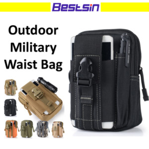 Wholesale Bestsin Army Outdoor Multifunction Belt Bag Casual Military Style Waist Pack For Phone Waist Pouch For Key Pen Free DHL