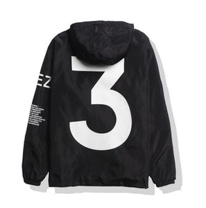 Wholesale 2019 KANYE Jacket Men KANYE Windbreaker TOUR Jackets Men Women Streetwear Fashion Outerwear uniform coat black White YEEZUS Y3 Jacket