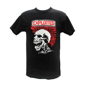 Wholesale The Exploited Punk Band Embroidered Graphic T Shirts Different Colours High Quality Cotton for Man T Shirts Top Tee