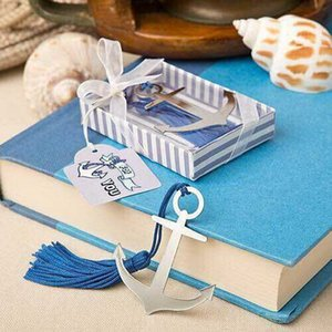 Wholesale Anchor Bookmark Tassel Metal Anchor Book mark Wedding Party Favor gifts