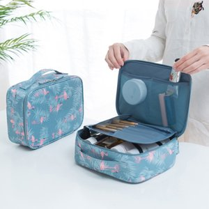 Wholesale Women Flamingos lemon Cosmetic Bags stripe Flowers print Storage Bags Mommy Diaper Bag Travel Makeup Bag colors C4418