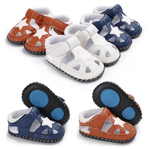 Wholesale New Cute Baby Newborn Sandal Shoes First Walkers Shoes Girls Boys Star Fashion Prewalkers Toddlers