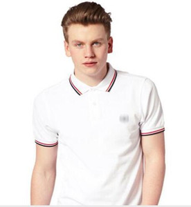 Wholesale HOt Sales Famous Business men shorts sleeve Polo shirts Popular Cotton embroidery Wheat Polos Custom Designer made Fred Dress shirts
