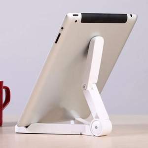 Wholesale Universal Folding Tablet Phone Holder Adjustable Desktop Mount Tripod Stand Holder Support Table Stabilizer Stand Holder retail box packing