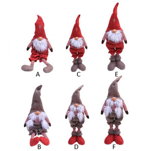 Wholesale 2018 Merry christmas ornaments christmas Gift Santa Claus Snowman Tree Plush Toy Doll Gift Desktop Decorations for home