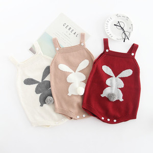Wholesale pure baby clothing for sale - Group buy baby kids clothing romper Autumn baby jumper halter belt vest knit wool pure cotton baby triangulation creeping clothes