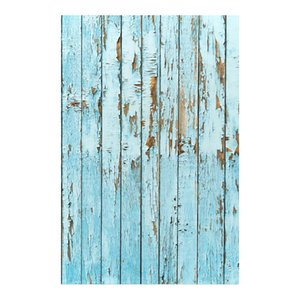 Wholesale 100x150cm Blue weathered floor photography backgrounds for photo studio portrait