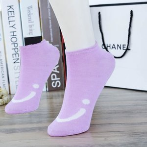 New summer ladies casual pattern boat socks female students smile candy socks Korean fashion trend personal socks