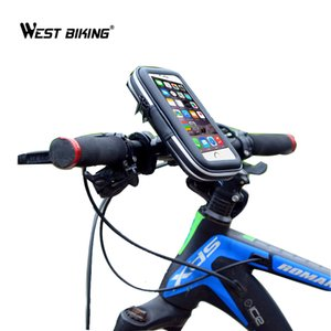 Wholesale WEST BIKING Waterproof Riding Bike Front Tube Bag Cycling Handlebar Pannier Smartphone GPS Touch Screen Case Bicycle Bike Bag