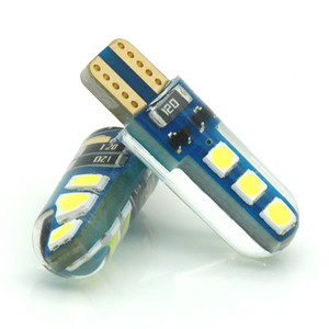 Wholesale 2pcs T10 LED Bulbs White W5W LED Lamp T10 Wedge SMD Interior Lights V K Turn Signal License Plate Ligh