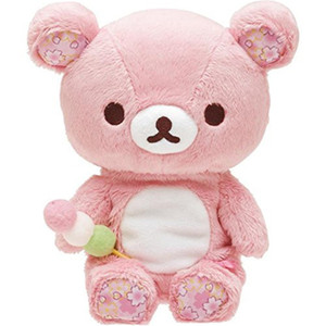 Pink Rilakkuma Bear Plush Toys 20CM Soft Relax Bear Stuffed Toy Animals Doll Baby Kids Pillow Toys Valentine's Gifts