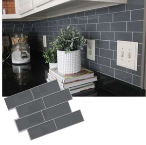 Wholesale Grey brick Subway Tile Peel and stick Self Adhesive Wall decal Sticker DIY Kitchen Bathroom Home Decor Vinyl D