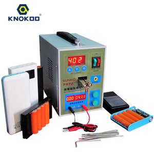 Wholesale welding machine resale online - Knokoo High Quality Precision Pulse Battery Spot Weld Machine Kit A Micro computer Soldering Station for Welding Iron Stainless Steel