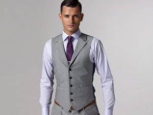 Wholesale 2019 New Hot Sale Light Grey Formal Men s Waistcoat New Arrival Fashion Groom Vests Casual Slim Fit Vest