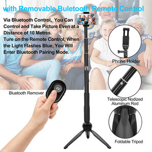 Selfie Stick Tripod,Extendable Monopod with Iphone Tripod Stand and Shutter Remote Portable for iPhone, Samsung, digital cameras