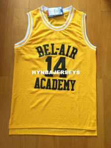 Wholesale Will Smith Basketball Jersey Will Smith Fresh Prince Jersey Bel Air Academy Jersey Stitched Bel Air Jersey Yellow S to XXL