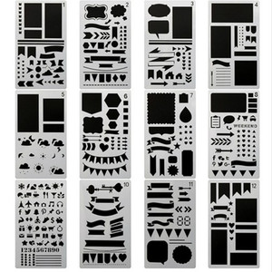 20pcs set Bullet Journal Stencil Set,DIY Painting Drawing Spraying Templates for Notebook Diary Scrapbook Planner Schedule Craft Projects