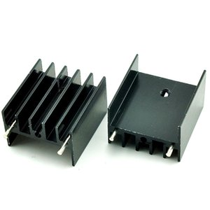Wholesale TO Dedicated Aluminum Heat Sink Black Aluminum Radiators for L298N Audion Dedicated Perfect Electronic Accessories Electronic Components