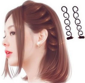 Wholesale Spiral Clips Hair Products Factory Direct selling Centipede Style Hair Braiders Black Brown Pigtail Hair Styling Tools