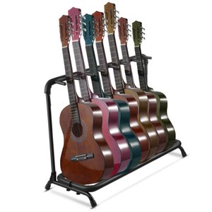 Wholesale Guitar Stand 7 Holder Folding Stand Rack Band Storage Bass Electric Acoustic