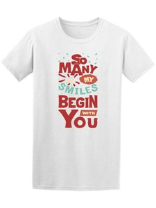 Wholesale So Many Smiles Begin With You Men s Tee Image by Shutterstock Mans Unique Cotton Short Sleeves O Neck T Shirt New Arrival Men
