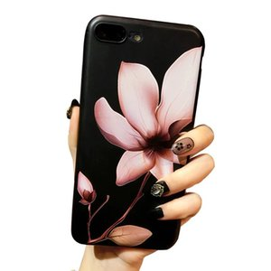 Wholesale Fashion D Flower Paint Phone Case For Iphone X Vintage Soft TPU Back Cover Cases For Iphone XR XS XS MAX