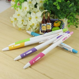 Wholesale 6 Ball Pen Plastic Ball Pen Ballpoint Pressed White Rod Ballpoint