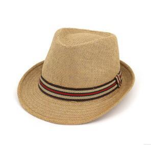 Couple straw hat outdoor travel sun hats straw male and female jazz cap beach grass braid caps
