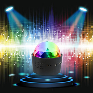 Wholesale USB Charge Lights Mini Portable Disco Light Sound Activated Multi coloured Disco Ball for Car Decoration Light Stage Light Hot Sale