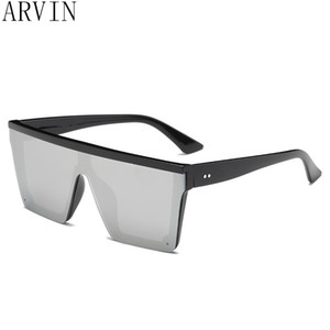 Wholesale oversized flat top sunglasses women luxury unique mens sun glasses brand designer shield sunglasses large square shades