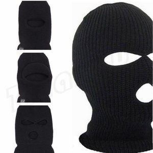 Wholesale Cycling cap with holes holes single hole acrylic fibers double layer special hat male winter cap face cap paryt mask C0187