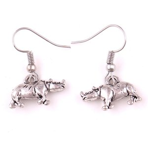 Wholesale good earring design resale online - Hot Sale Earrings For Women Animal Rhinoceros D Charm Design Personality Design Good Gift Choose Zinc Alloy Provide Dropshipping