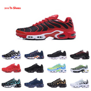 Wholesale 2019 New Tn Shoes Mens Sneakers Breathable Air Cusion Shoes Tn Plus Casual Shoes New Arrival Colors