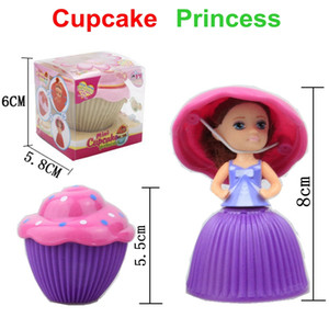 Wholesale 12pcs Mini Magical Cupcake Princess Dolls Scented Princess Doll Reversible Cake Transform to Princess Doll With Retail Box