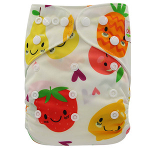 Flamingo Pineapple Reusable Pocket Diaper Cover Adjustable Washable Suede Baby Nappies Stylish Cartoon Printed Potty Training Underwear