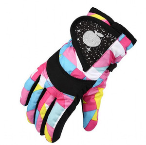 Wholesale Cartoon Waterproof Five Finger Glove For Kids Child Skiing Outdoor Sports Gloves Cold Prevention Mittens Girls And Boys yc BB
