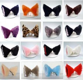 Plush Cat Ears Catwoman Royal Sister Lolita Hair Clips Multi COSPLAY Animation Dance Fox Pin Hair Accessories & Tools Free-shipping HA062