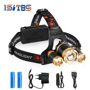 Wholesale CREE XML T6 xR5 led headlamp headlight lumens led head lamp camp hike emergency light fishing outdoor equipment