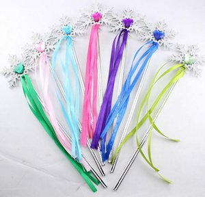 Wholesale Fairy Wand ribbons streamers Christmas wedding party snowflake gem sticks magic wands confetti party props decoration events favors hot sale
