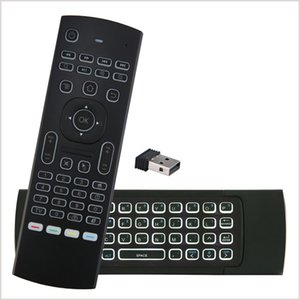 Wholesale X8 Backlight MX3 Mini Keyboard With IR Learning Qwerty G Wireless Remote Control Axis Fly Air Mouse Backlit Gampad For TV Box MQ20