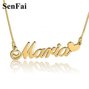 Wholesale Senfai Personalized Name Necklace gold chain for men gothic Famous brand jewelry stainless steel chain Mom Mothers Day Gift Y1891709