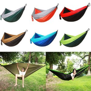 Wholesale Camping Single Hammock Double Hammock Best Quality Gear Outdoor Backpacking Survival Or Travel Portable Lightweight Parachute Free DHL G673F